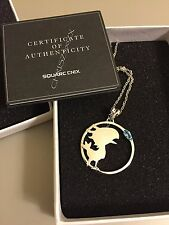Final Fantasy Chocobo 925 Silver Pendant Necklace Swiss Blue Topaz + Chain