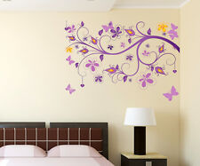 Wall Stickers Floral Vine Purple Beautiful Decorative Decal Office Living Room