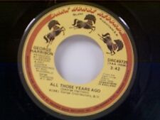 """GEORGE HARRISON """"ALL THOSE YEARS AGO / WRITING'S ON THE WALL"""" 45"""