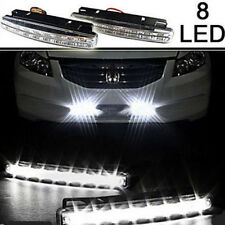 2x 8LED Car Fog Lamp 12V Daytime Driving Running Light DRL Waterproof DC White