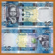 South Sudan, 10 Pounds, 2011, P-7a, UNC   ZZ, REPLACEMENT