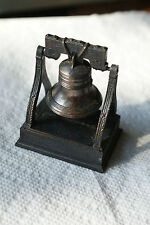 Old Vintage Ring Liberty Bell Pencil Sharpener Hong Kong Miniature Figurine Desk