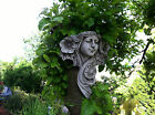 (NEW) Lady / Girl Stone Wall Plaques~Bespoke Garden Ornaments~Art~nouveau~rose~