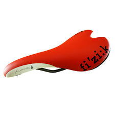 Fizik Aliante Delta Road MTB Cycling Bike Saddle Manganese Rails Red/White