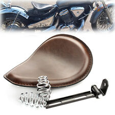"Solo Motorcycle Brown Seat 3"" Springs Bracket For Harley Chopper Bobber Honda"