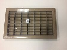 "12""X 30""Heavy Duty Rigid Floor Grille - Fixed Blades Air Grill - Brown H&C"