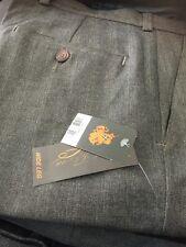 Topman marrón tweed para hombre Pantalones Boot Cut Bengalas w34L BNWT Vintage