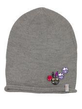 (P31) Feinstrick Mütze FREAKY HEADS Beanie leichte Wintermütze Uni mit Zierstein