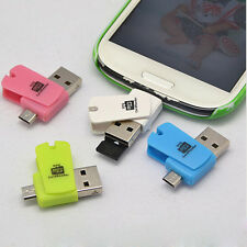 2-in-1 Micro USB 2.0 OTG Adapter + Micro SD TF Card Reader for Android Phones PC