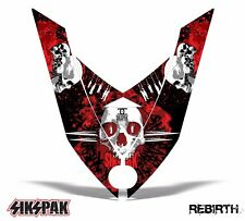 SIKSPAK Sled Hood Wrap Graphic Decal Ski-Doo Rev XP Snowmobile 08-12 REBIRTH RED