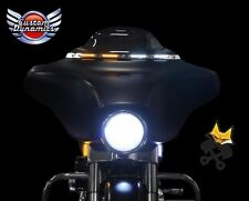 CUSTOM DYNAMICS BLACK LED WINDSHIELD TRIM W/TURN SIGNALS HARLEY 06-13 FLHT FLHX