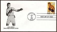 1993 JOE LOUIS Sports Boxing ~ UNKNOWN CACHET PICTURE OF DEMPSY~FIRST DAY COVER