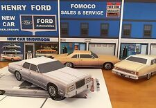 Papercraft 1975-1978 Ford LTD silver sedan PaperCar EZU-build Paper Model Car