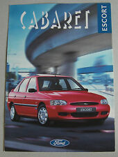 FORD ESCORT CABARET 1995 RANGE CAR BROCHURE. SPECIAL EDITION. 1.8TD 1.6i 16 1.4i