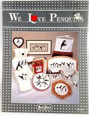 "Back Street, Inc CROSS STITCH Pattern s 10 pages ""We Love Penquins"" PENGUIN"