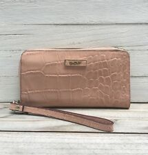 NWT DKNY Croco Embossed Patent Leather Pink Wallet Wristlet