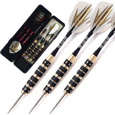 CUESOUL 26 Grams Steel Tip Darts Black Coating Brass Barrel Darts Set