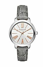 NWT Michael Kors Ladies Hartman Silver Gray Leather Watch MK2479 $195