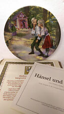 Hansel and Gretel Charles Gehm Grimm Fairy Tales Plate