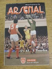 14/02/1989 Arsenal v France [Friendly] . Good condition unless previously stated