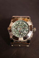 RENATO CYCLOPS SWISS MOVEMENT WATCH GREEN CARBON FIBER DIAL LTD Ed CHRONOGRAPH!!