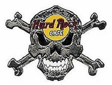 Hard Rock Cafe OSAKA 2004 HALLOWEEN PIN Silver Skull and Crossbones LE 300 Made!