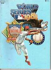 1981 World Series program Baseball Los Angeles Dodgers vs. New York Yankees ~ Fr