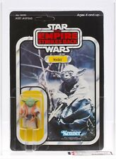 Star Wars Vintage Kenner ESB 41-D Back Yoda Dark Green/Orange Snake MOC AFA 80