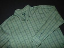 EDDIE BAUER Button Front Shirt ~ Large ~ Relaxed Fit ~ Wrinkle and Stain Resista