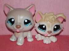 authentic LPS LITTLEST PETSHOP pet shop HUSKY 1012 + 1013 puppy mom dog hasbro