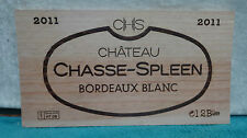 2011 CHATEAU CHASSE SPLEEN BORDEAUX BLANC WOOD WINE PANEL END