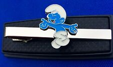 SMURF TIE CLIP THE SMURFS CLASP BAR PIN NECKTIES TIES LOGO EMBLEM CHARM