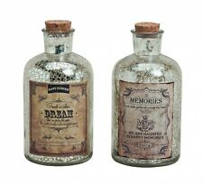 "2er Set Glasflasche Antik ""Dream & Memories"" H: 16cm- als Vasen Set, Tischdeko e"