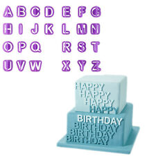 40X Fondant Cake Alphabet Number Letter Decorating Cutter Sugarcraft Mold Mould