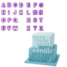 40X Fondant Cake Alphabet Number Letter Decorating Cutter Sugarcraft Mold Mould