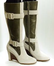 "New Donald J. Pliner ""Heidy"" Sport-i-que Women's Size 7 1/2 Ivory Suede Boots"