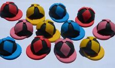 12 edible HORSE JOCKEY CAPS cake CUPCAKE TOPPER decoration MELBOURNE CUP racing