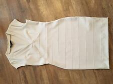 French connection Cream Ivory Off White Body Con Bandage Dress
