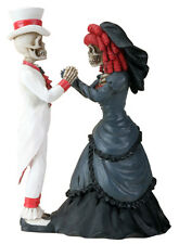 DOD Skeleton Gothic Couple Halloween Wedding Cake Topper. Love Never Dies 8365 S