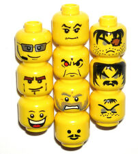 LEGO 10 HEADS Yellow Minifigure Super Hero/Castle Villains NEW