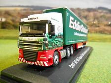 OXFORD ATLAS EDDIE STOBART DAF FTG XF105 SPACE CAB & TRIAXLE CURTAINSIDER 1/76