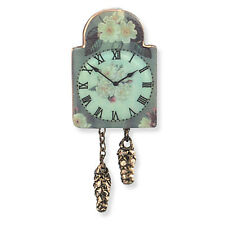 Reutter Porzellan Nostalgieuhr English Rose Wall Clock Puppenstube 1:12  1.406/8
