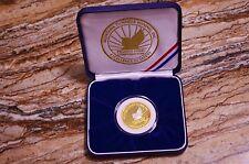 PEGASUS MONTANA TUNNELS MINING .999 FINE GOLD PROOF SAFETY AWARD 3/4 TROY OZ