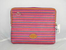 Fossil Pink Colorful Stripes Key Per Coated Canvas Tech Tablet Sleeve SL4381 875