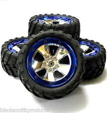 BS702-020 1/10 Scale RC Rock Crawler Off Road Wheels and Tyres Chrome Plastic 4