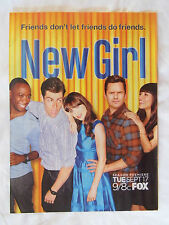2013 Magazine Advertisement Page For The TV Show The New Girl Zooey Deschanel Ad
