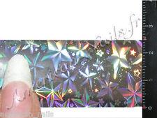 Rouleau Foils Nail Art Foil ongle Argent Northern Star Holographique 150 cm