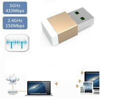 600MBPS DUAL BAND WIFI 5.8GHZ, 2.4GHZ ACN WIRELESS  MICRO ADAPTER USB DONGLE G