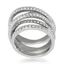 Swarovski Spiral Silver-Tone Ring 1156306