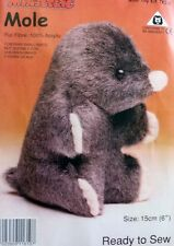 Mole Soft Toy Kit - Make Your Own - Cuddly Fur Fabric - Gift Children Sew